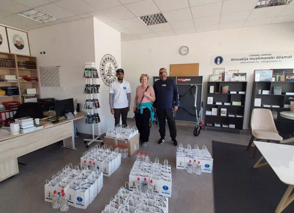 Lebensmittel- und Hgyienepakete Verteilung in Brezovica