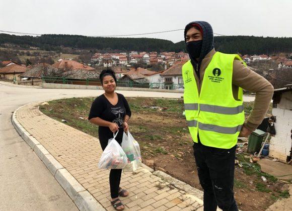 Lebensmittelverteilung in Nordmazedonien