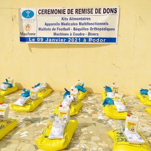Lebensmittelspenden und Hygienepakete in Podor, Senegal